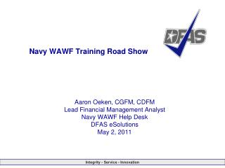 Navy WAWF Training Road Show