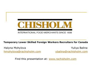 Temporary Lower Skilled Foreign Workers Recruiters for Canada