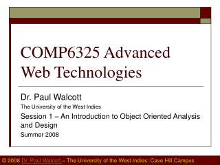 COMP6325 Advanced Web Technologies