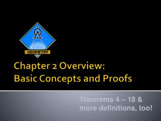 Chapter 2 Overview:  Basic Concepts and Proofs