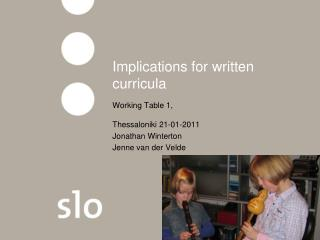 Implications for written curricula