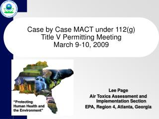 Case by Case MACT under 112(g) Title V Permitting Meeting March 9-10, 2009