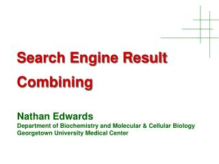 Search Engine Result Combining