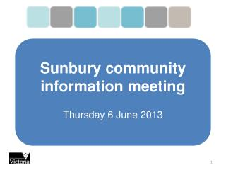 Sunbury community information meeting Thursday 6 June 2013