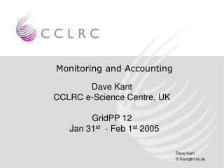 Monitoring and Accounting