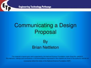 Communicating a Design Proposal