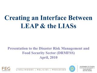 Creating an Interface Between LEAP & the LIASs