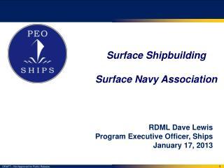 Surface Shipbuilding Surface Navy Association