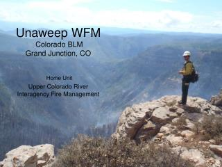 Unaweep WFM  Colorado BLM Grand Junction, CO   Home Unit  Upper Colorado River Interagency Fire Management