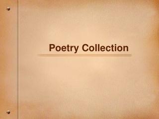 Five Senses Poetry