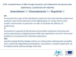 iCON: Competitiveness of SMEs through Innovation and Collaborative Entrepreneurship