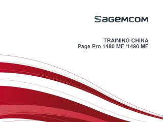 TRAINING CHINA Page Pro 1480 MF /1490 MF