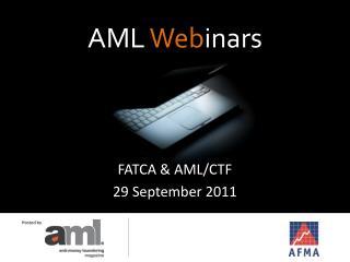 AML  Web inars