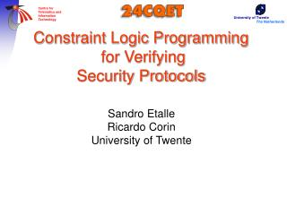 Constraint Logic Programming   for Verifying  Security Protocols