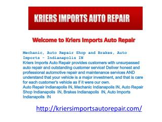 Mechanic, Auto Repair Shop and Brakes, Auto Imports - Indian