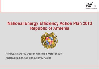 National Energy Efficiency Action Plan 2010 Republic of Armenia