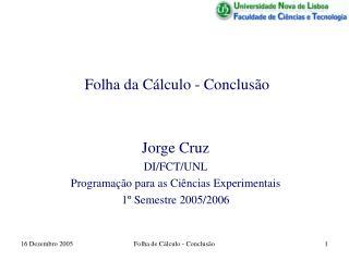 Folha da Cálculo - Conclusão