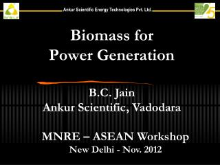 Biomass for  Power Generation