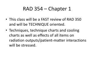 RAD 354 – Chapter 1