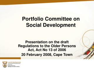 Portfolio Committee on Social Development