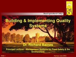 Building  Implementing Quality Systems