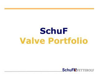 SchuF Valve Portfolio