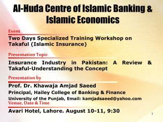 Al-Huda Centre of Islamic Banking & Islamic Economics