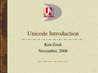 Unicode Introduction