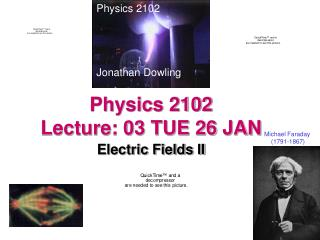 Physics 2102  Lecture: 03 TUE 26 JAN