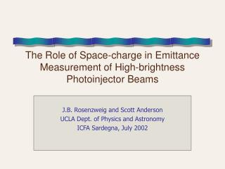 The Role of Space-charge in Emittance Measurement of High-brightness Photoinjector Beams