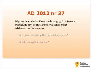 AD 2012 nr 37