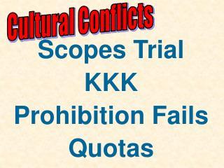 Cultural Conflicts