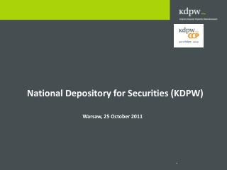 National Depository for Securities (KDPW)