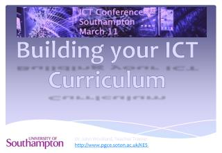 Building your ICT Curriculum