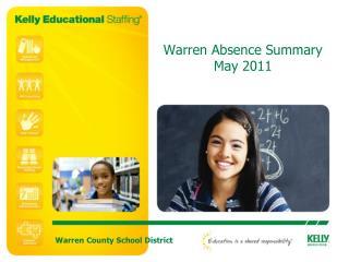Warren Absence Summary May 2011