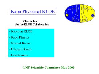 LNF Scientific Committee May 2003