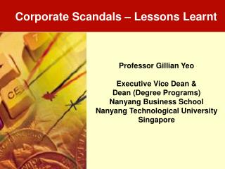 Corporate Scandals   Lessons Learnt