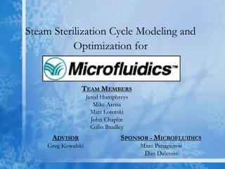 Steam Sterilization Cycle Modeling and Optimization for