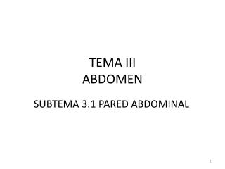 TEMA III ABDOMEN