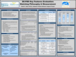 DE-PBS Key Features Evaluation:  Matching Philosophy & Measurement