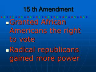 15 th Amendment