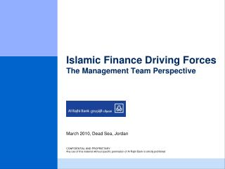 Islamic Finance Driving Forces The Management Team Perspective