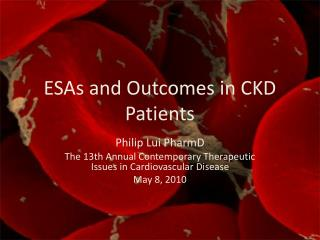 ESAs and Outcomes in CKD Patients
