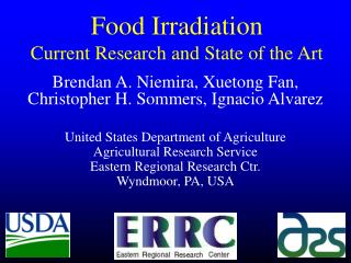 Food Irradiation Current Research and State of the Art