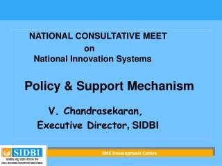 NATIONAL CONSULTATIVE MEET                           on  National Innovation Systems