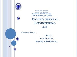 Environmental  Engineering  441