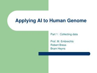 Applying AI to Human Genome