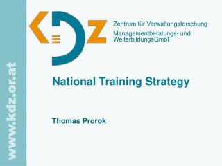 National Training Strategy