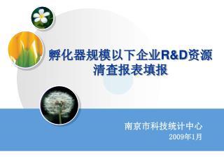 孵化器规模以下企业 R&D 资源清查报表填报