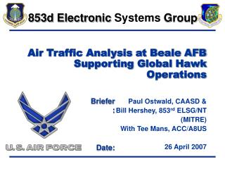 Air Traffic Analysis at Beale AFB Supporting Global Hawk Operations